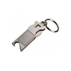 Metall Schlüsselanhänger mit Einkaufswagenchip