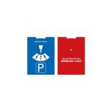 """Parkscheibe aus Karton mit vollflächiger Werbefläche (StVO-konform) """"Park Color"""""""